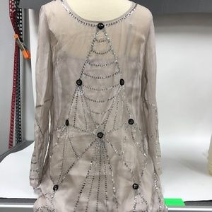 Alice By Temperley Sequin Silk Dress